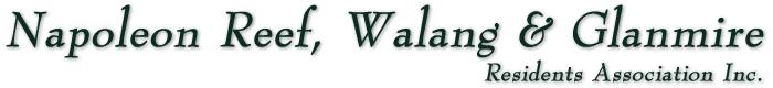 Napoleon Reef, Walang & Glanmire Residents Association